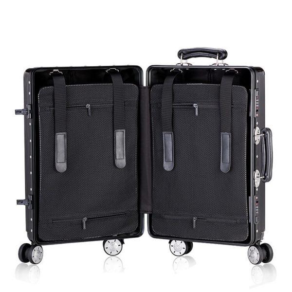 aluminum suitcase luggage