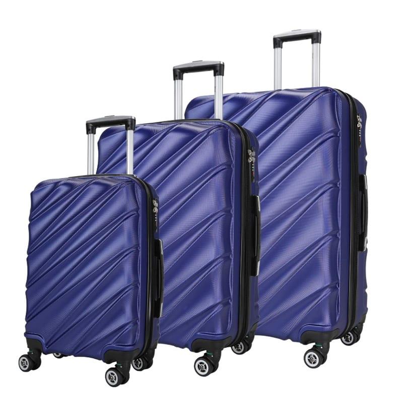 01249e96e476 Luggage 3 Piece Set Abs Hard Shell Suitcase Lightweight -